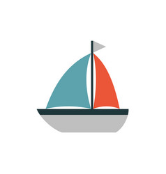 Boat icon flat vector