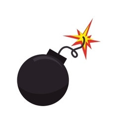 bomb boom explotion vector image
