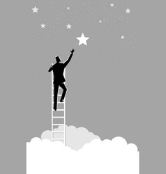 businessman reach out for the stars vector image