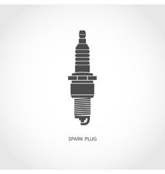 Car spark plug icon vector