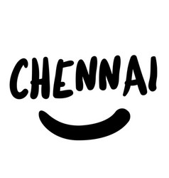 Chennai sticker stamp vector