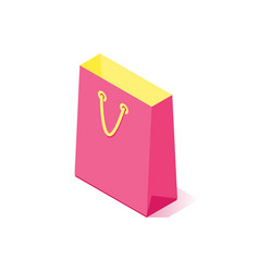 Colorful shopping bag icon vector