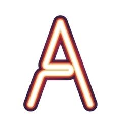 consonat alfabeth a vector image