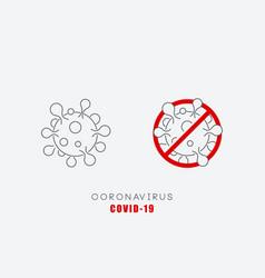 coronavirus symbol vector image