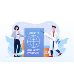 Covid19-19 immunity passport vaccination vector
