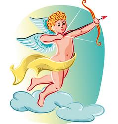 cupid ready to shoot love arrows vector image