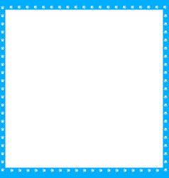 cyan blue and white square frame made of animal vector image