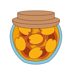 delicious mango fruit preserves isolated icon vector image