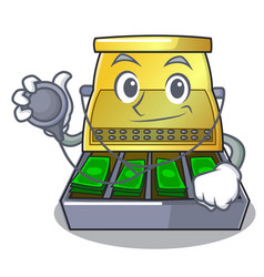Doctor electronic cash register isolated on a vector