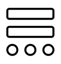 Double bar with round dimension drawing layout vector