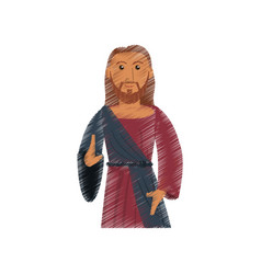 Drawing jesus christ spiritual design vector