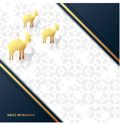 Eid al adha mubarak celebration muslim vector