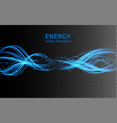 electric lighting transparent effect vector image