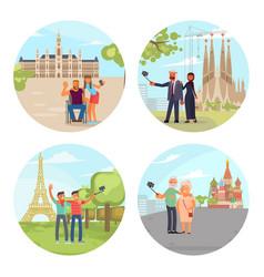 european city sights vector image