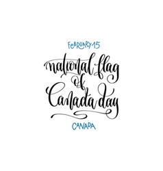 february 15 - national flag of canada day vector image