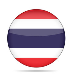 Flag of thailand shiny round button vector