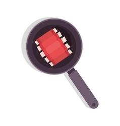 Food frying pan with rib vector