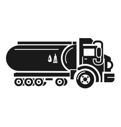 Fuel cistern truck icon simple style vector