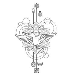 Geometric colibri symbol vector