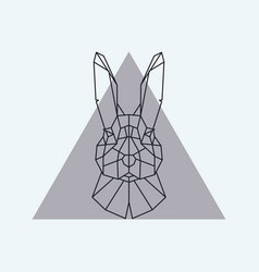 Geometric head of a hare vector