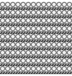 Greek minimal monochrome black and white pattern vector