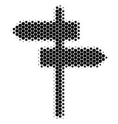 Halftone dot road pointer icon vector