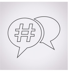 hashtag social media icon vector image