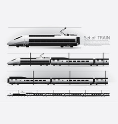 High speed train on a rail road vector
