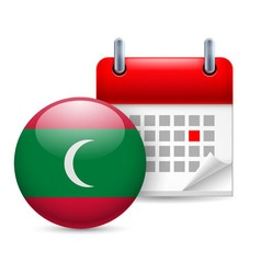 Icon of national day in maldives vector