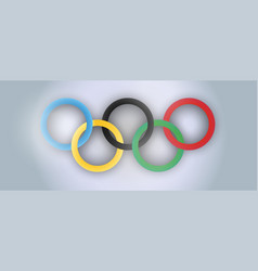 international olympic day realistic holiday vector image
