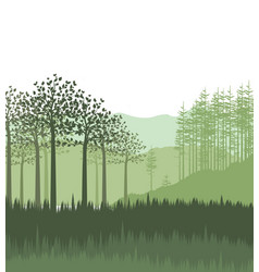 landscape with forest vector image