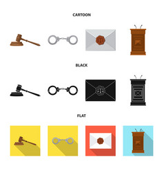 Law and lawyer sign vector