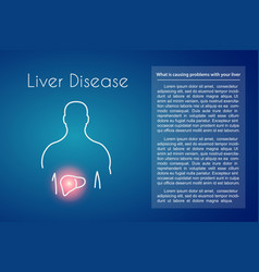 Liver disease blue background vector