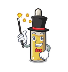 Magician ampoule mascot cartoon style vector