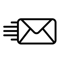 mail line icon envelope isolated on vector image