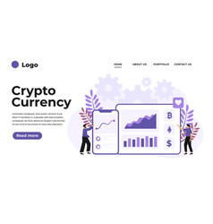modern flat design cryptocurrency marketplace vector image