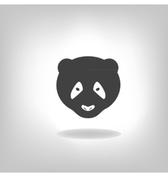 Panda grey label - vector