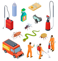 Pest control isometric insect fumigation rodent vector