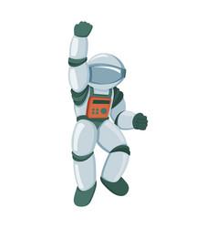 professional spaceman in modern pressure suit vector image