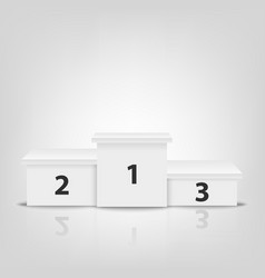 realistic 3d white winners podium closeup vector image