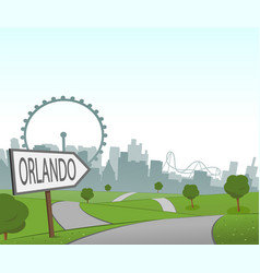 road to orlando vector image