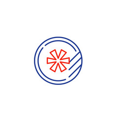 Round token logo concept line icon vector