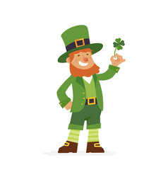 saint patrick - modern cartoon people vector image