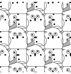 Seamless abstract bird pattern vector image