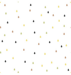 seamless pattern falling confetti or raindrop vector image