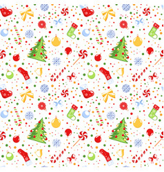 seamless pattern with a christmas theme vector image