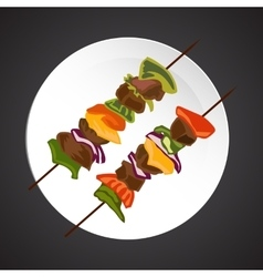 Shish-kebab vector