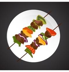 Shish-kebab vector image