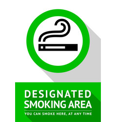 Smoking place poster vector