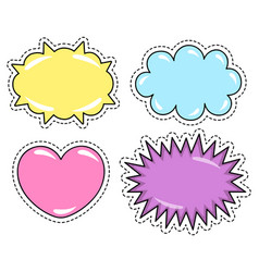 Speech bubbles stickers for web pattern label vector